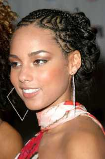 Alicia Keys Afro American Braided Hairstyles