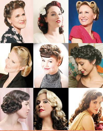 Strange Pin Curls Hairstyle Ideas Pin Curl Hairstyle Illustrations Hairstyle Inspiration Daily Dogsangcom