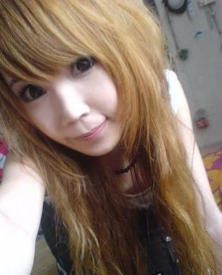 Asian emo teen